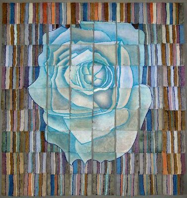 darrell ross paper making, weeping roses