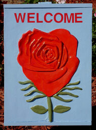 Rose Wall Art, Weeping rose, Rose wall, weeping rose art, weepings roses, darrell ross artist, darrell ross paper art